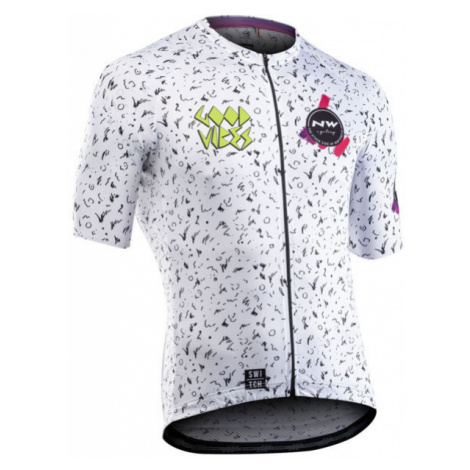 Northwave VIBES white - Men's cycling jersey North Wave