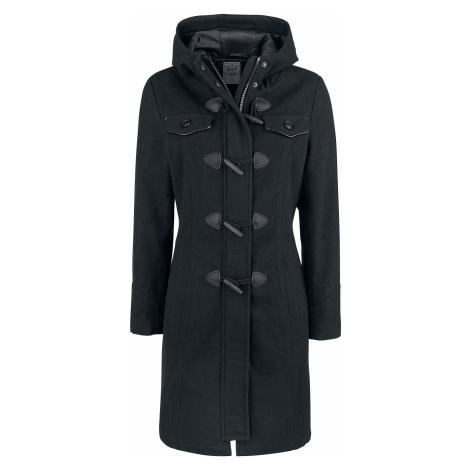 Brandit - Long Dufflecoat - Girls coat - black