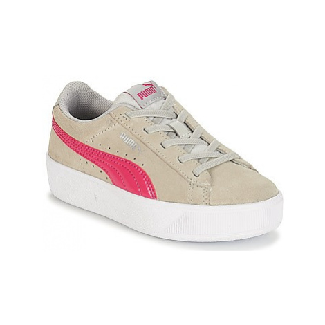 Puma PS VIKKY PLATFORM.GREY girls's Children's Shoes (Trainers) in Grey
