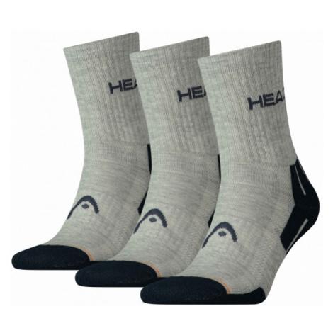 Head PERFORMANCE SHORT CREW 3P white - Socks