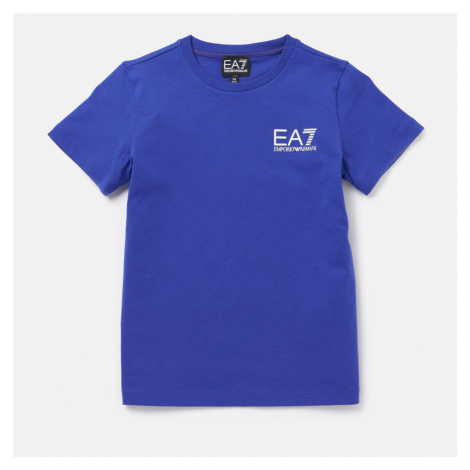 Emporio Armani EA7 Boys' Small Logo Short Sleeve T-Shirt - Mazarine Blue