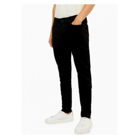 Mens Stay Black Stretch Skinny Jeans, Black Topman