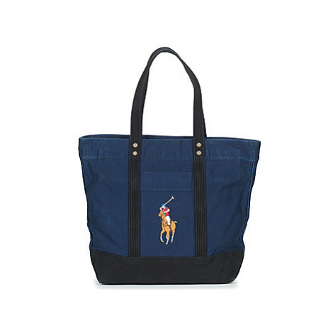 Polo Ralph Lauren TOTE PONY BLACK NAVY women's Shopper bag in Blue