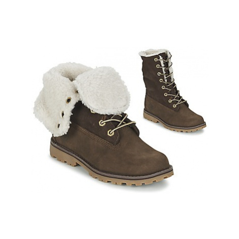 Timberland 6 IN WP SHEARLING BO girls's Children's Mid Boots in Brown