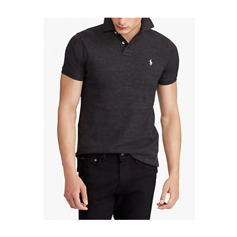 Polo Ralph Lauren Mesh Polo Shirt, Black Marl Heather