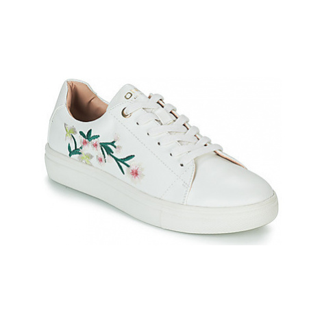 Only SAGE EMBROIDERY women's Shoes (Trainers) in White