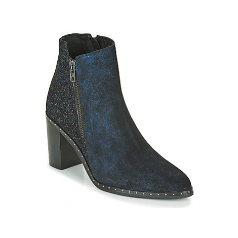 Philippe Morvan BALING V2 FOG women's Low Ankle Boots in Blue
