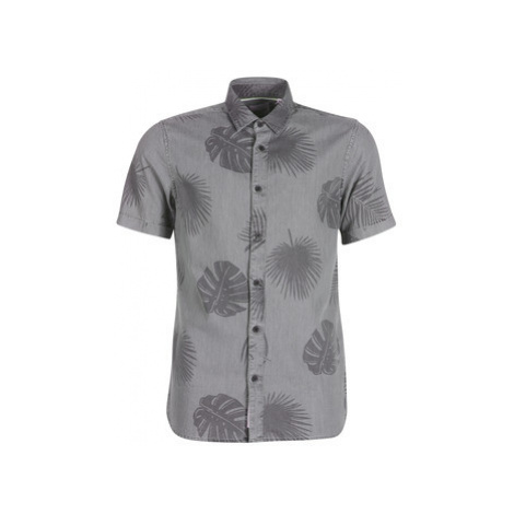 Only Sons ONSSIMON men's Short sleeved Shirt in Grey Only & Sons