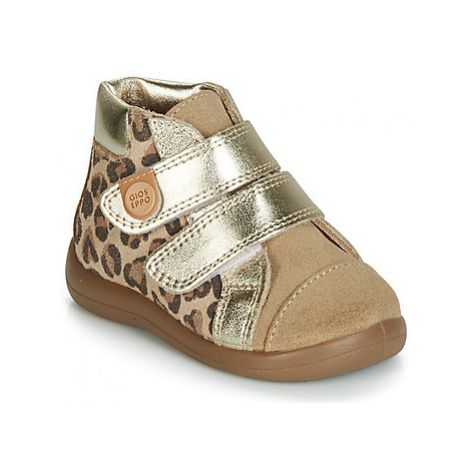 Gioseppo ATQASUK girls's Children's Shoes (High-top Trainers) in Brown