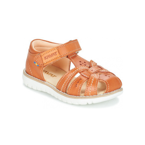 Kavat BLOMVIKEN girls's Children's Sandals in Brown