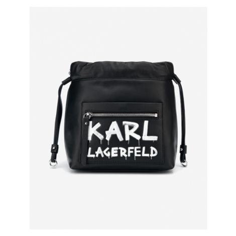 Karl Lagerfeld K/Soho Graffiti Small Handbag Black