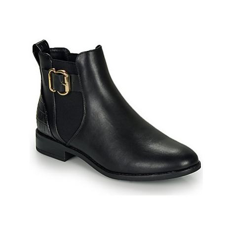 Only BOBBY ELASTIC BUCKLE women's Mid Boots in Black