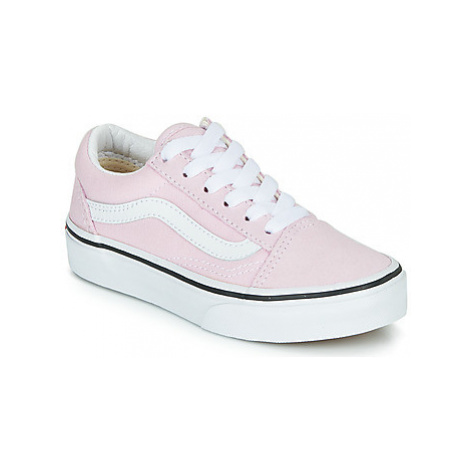 Vans UY OLD SKOOL girls's Children's Shoes (Trainers) in Pink
