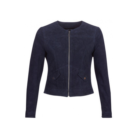 Vero Moda VMMANON women's Leather jacket in Blue