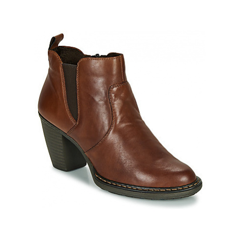 Rieker 55284-26 women's Low Ankle Boots in Brown