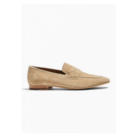 Mens Stone Suede Colburn Loafers, Stone Topman