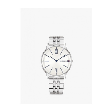 Tommy Hilfiger 1791511 Men's Bracelet Strap Watch, Silver/White
