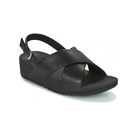 FitFlop LULU CROSS BACK-STRAP SANDALS - LEATHER women's Sandals in Black
