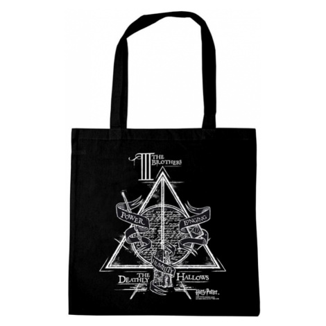 Harry Potter Deathly Hallows Cloth Bag black