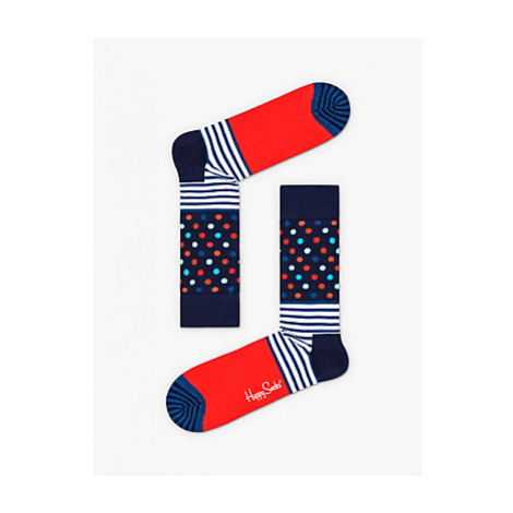 Happy Socks Stripe Dot Socks, One Size, Blue/Red
