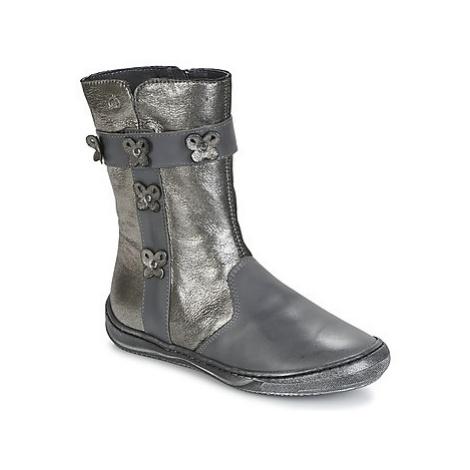 Citrouille et Compagnie HATOU girls's Children's High Boots in Grey