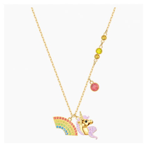 Out of this World Unicorn Necklace, Multi-coloured, Gold-tone plated Swarovski