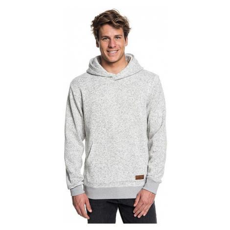 sweatshirt Quiksilver Keller Hood - SJSH/Light Gray Heather - men´s