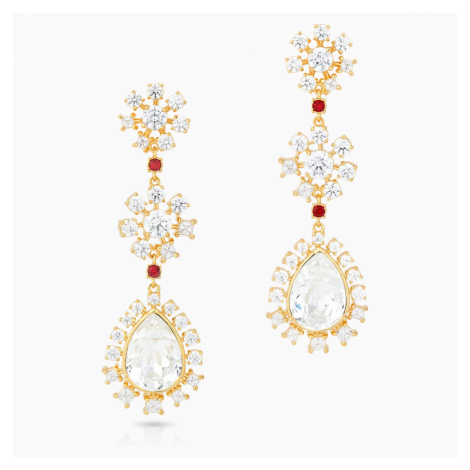 Penélope Cruz Icons of Film Flower Pierced Earrings, Red, Gold-tone plated Swarovski