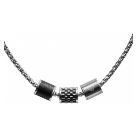 Mens Emporio Armani Stainless Steel Heritage Pendant - Long Necklace EGS2383020