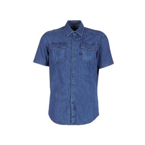 G-Star Raw LANDOH men's Short sleeved Shirt in Blue