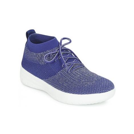 FitFlop UBERKNIT SLIP-ON HIGH TOP SNEAKER women's Shoes (High-top Trainers) in Blue