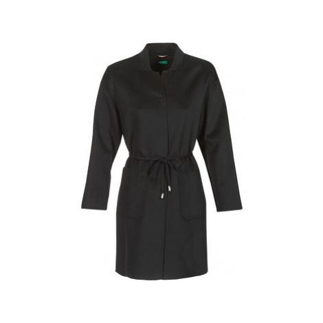 Benetton MARBELLO women's Coat in Black United Colors of Benetton