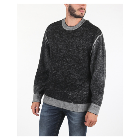 Diesel K-Conf Sweater Black Grey