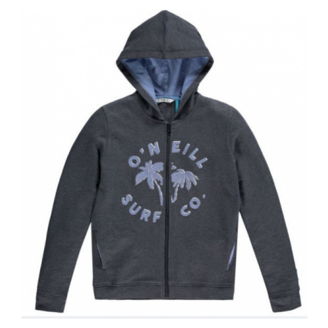 O'Neill LG EASY F/Z HOODIE dark gray - Girl's hoodie