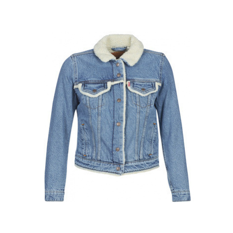 Levis ORIG SHERPA TRIM TRUCKER women's Denim jacket in Blue Levi´s
