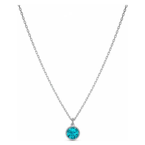 Birthstone Pendant, December, Blue, Rhodium plated Swarovski