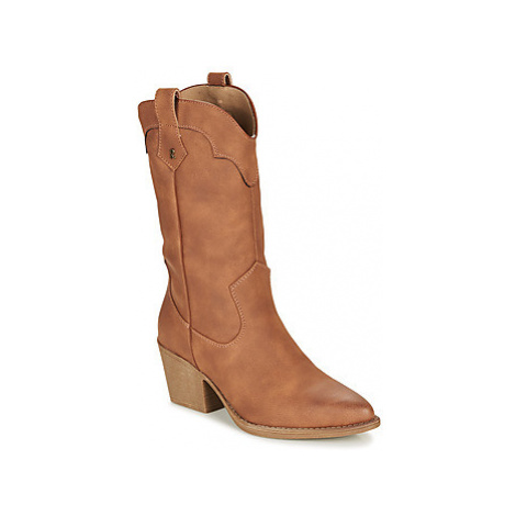 Refresh 69304-CAMEL women's Low Ankle Boots in Brown