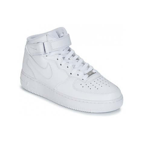 Nike AIR FORCE 1 MID 07 LEATHER men's Shoes (High-top Trainers) in White