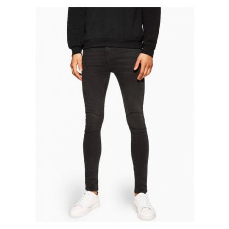 Mens Washed Black Super Spray On Jeans, BLACK Topman
