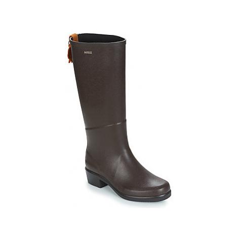 Aigle MISS JULIETTE A women's Wellington Boots in Brown