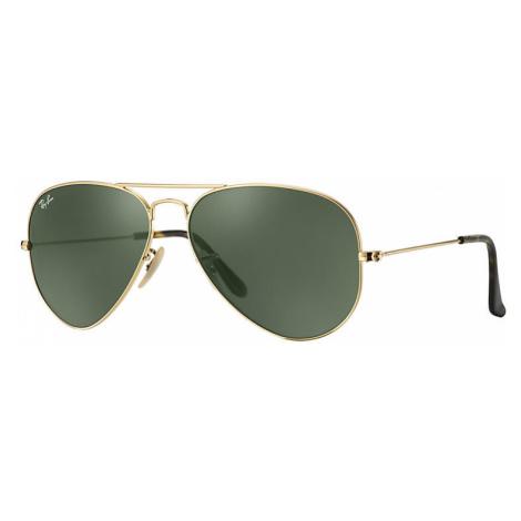 Ray-Ban Aviator havana collection Unisex Sunglasses Lenses: Green, Frame: Gold - RB3025 181 58-1