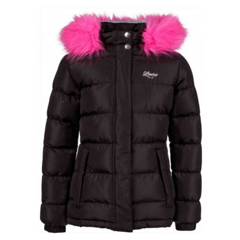 Lewro NAILA black - Girls' quilted jacket