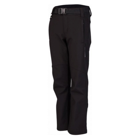 Lewro DALEX black - Kids' softshell trousers