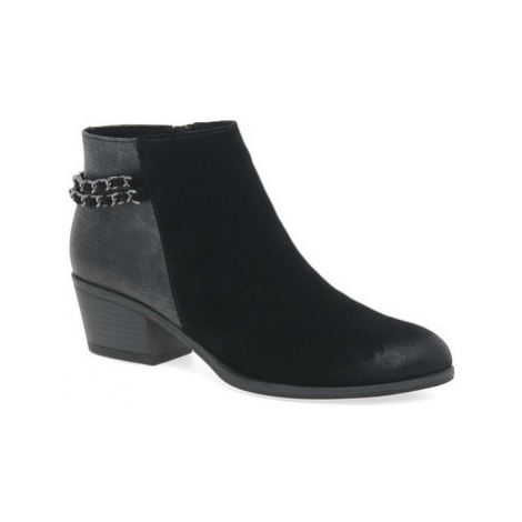 Marco Tozzi Carla Womens Chain Detail Block Heel Ankle Boots women's High Boots in Black