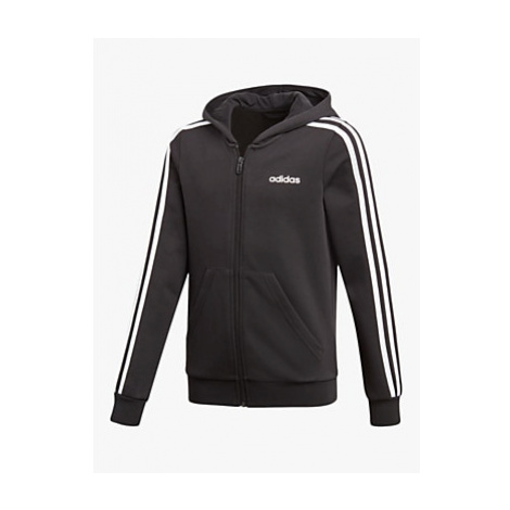 Adidas Girls' Slim Fit Zip Through Hoodie, Black