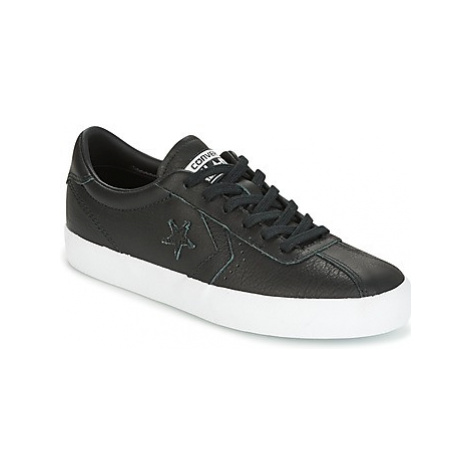 Converse BREAKPOINT FOUNDATIONAL LEATHER OX BLACK/BLACK/WHITE women's Shoes (Trainers) in Black