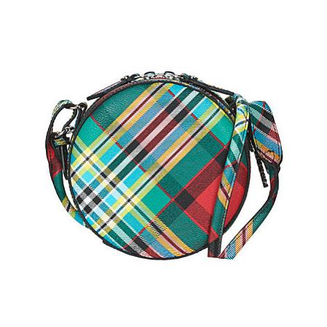 Vivienne Westwood SHUKA TARTAN ROUND CROSSBODY BAG women's Shoulder Bag in Multicolour