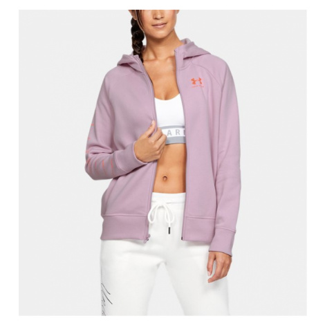Women's UA Rival Fleece Sportstyle LC Sleeve Graphic Full Zip Under Armour