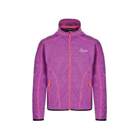 Dare 2b Kids Entreat II Hooded Fleece Purple boys's Children's fleece jacket in Purple