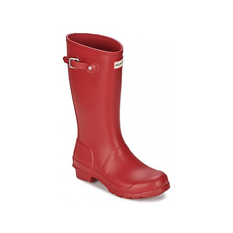 Hunter ORIGINAL JUNIORS girls's Children's Wellington Boots in Red